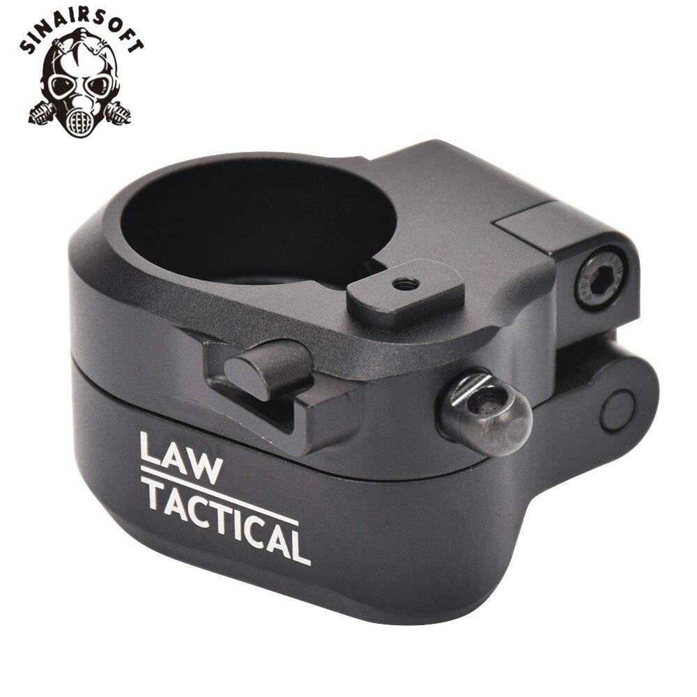 GESETZ Taktische AR Schwarz Folding Lager Adapter Fit M16 M4 SR25 Serie GBB (AEG) für Airsoft Paintball Schießen Jagd Zubehör