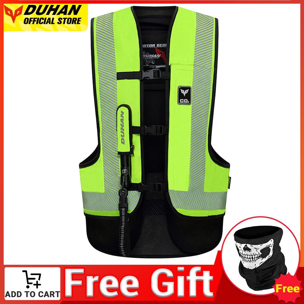 Мотоциклетный жилет Духан, жилет для подушки безопасности, защитная система безопасности, светоотражающая мотоциклетная подушка безопасн...