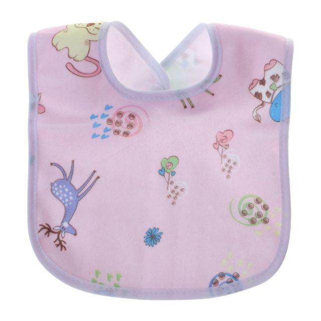 1PC Baby Bib Waterproof Cartoon Cute Buckle Bandana Burp Saliva Towel Boys Girls Feeding Apron Bib Infant Children Supplies 6