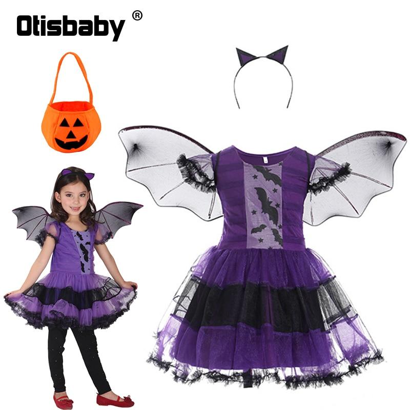 Детский костюм ведьмы вампира на Хэллоуин, комплект детской одежды, карнавальные костюмы для косплея, костюм для выпускного вечера, леггинс...