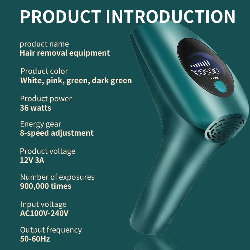 New Permanent 990000 Flashes Laser Epilator Painless IPL Photoepilator Hair Removal depiladora Permanent LCD Display Epilator enlarge
