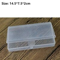 large capacity transparent plastic cosmetics storage box jewelry earring bead screw holder case paper money banknote container