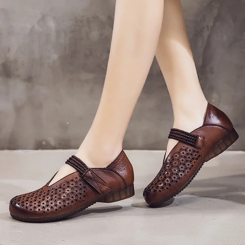 Square End Flats Women Handmade High Quality Loafers Woman Genuine Leather Oxford Moccasins 2021 New