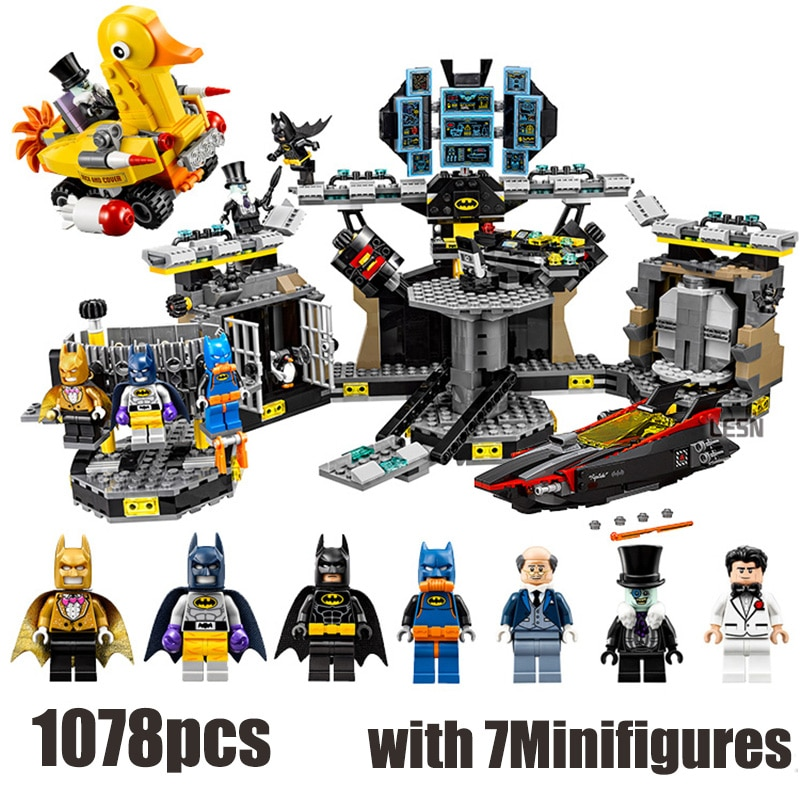 Compatible avec Lepining Batman film 70909 Super héros chauve-souris Bruce façon grotte rodage blocs de construction jouets pour enfants cadeaux