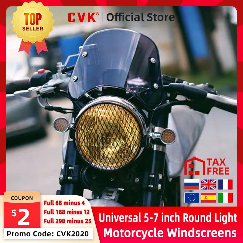 "CVK motocicleta 5 ""-7"" pulgadas parabrisas Universal Deflector de viento de aire apto para Honda Yamaha XJR 1300 Suzuki GSX 1400 Royal"
