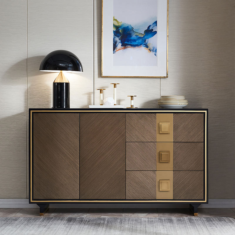 Mesa de comedor de lujo ligera, mueble lateral para TV, almacenamiento, entrada,...