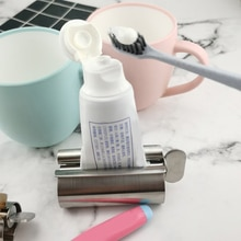 Durable Stainless Steel Toothpaste Squeezer Convenient Facial Cleanser Holder Home Rolling Tube Toot