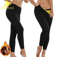 NINGMI Neoprene Women's Sauna Sweat Long Pants Shaperwear High Waist Body Shaper Waist Trainer Slimm