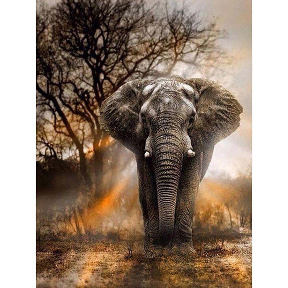 Elefante animais artesanato nova chegada diy broca completa quadrado 5d pintura diamante ponto cruz kit olifant mosaico redondo strass