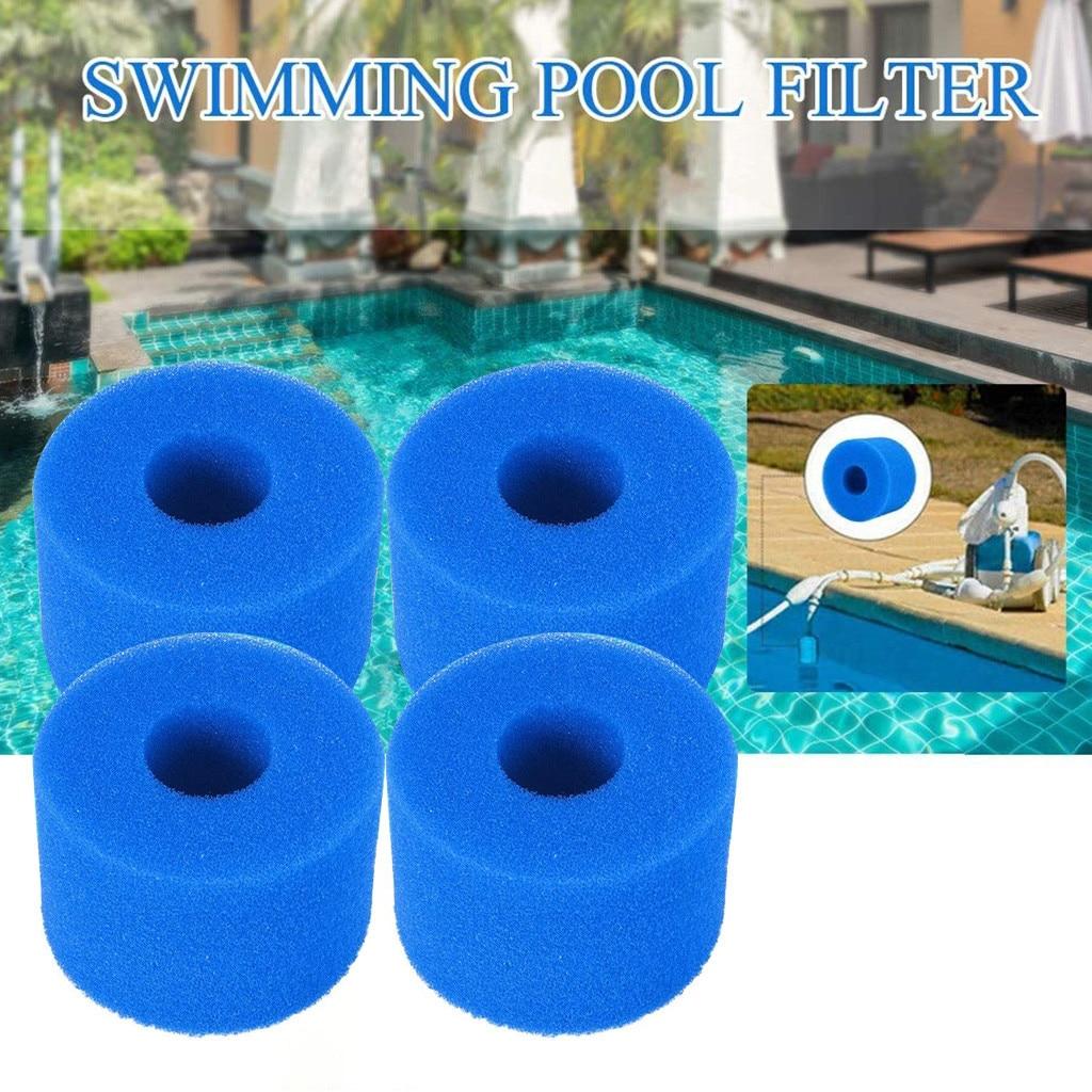 Filtro de espuma reutilizable para piscina, 4 Uds., lavable, tipo Intex S1,...