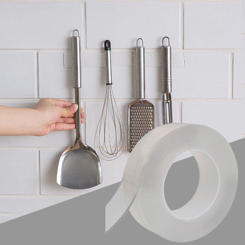 Nano cinta mágica organizador de cocina soporte de cuchillo soporte de botella de especias soportes de almacenamiento de pared multifunción estante montado en la pared de la cocina