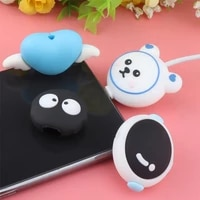cartoon protector cable charger animal cable bite cute usb cable protector winder anime kawaii organizer cover for iphone