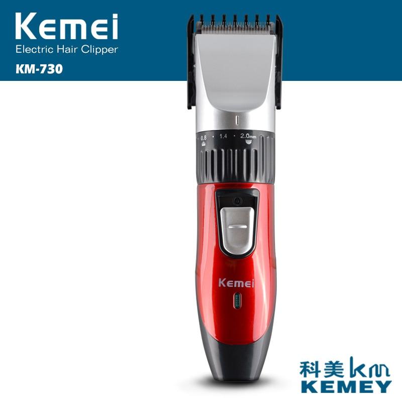 Cortadora de pelo Kemei profesional de acero al carbono, cortadora de pelo recargable, cortadora de barba de alta calidad, Afeitadora eléctrica 35D