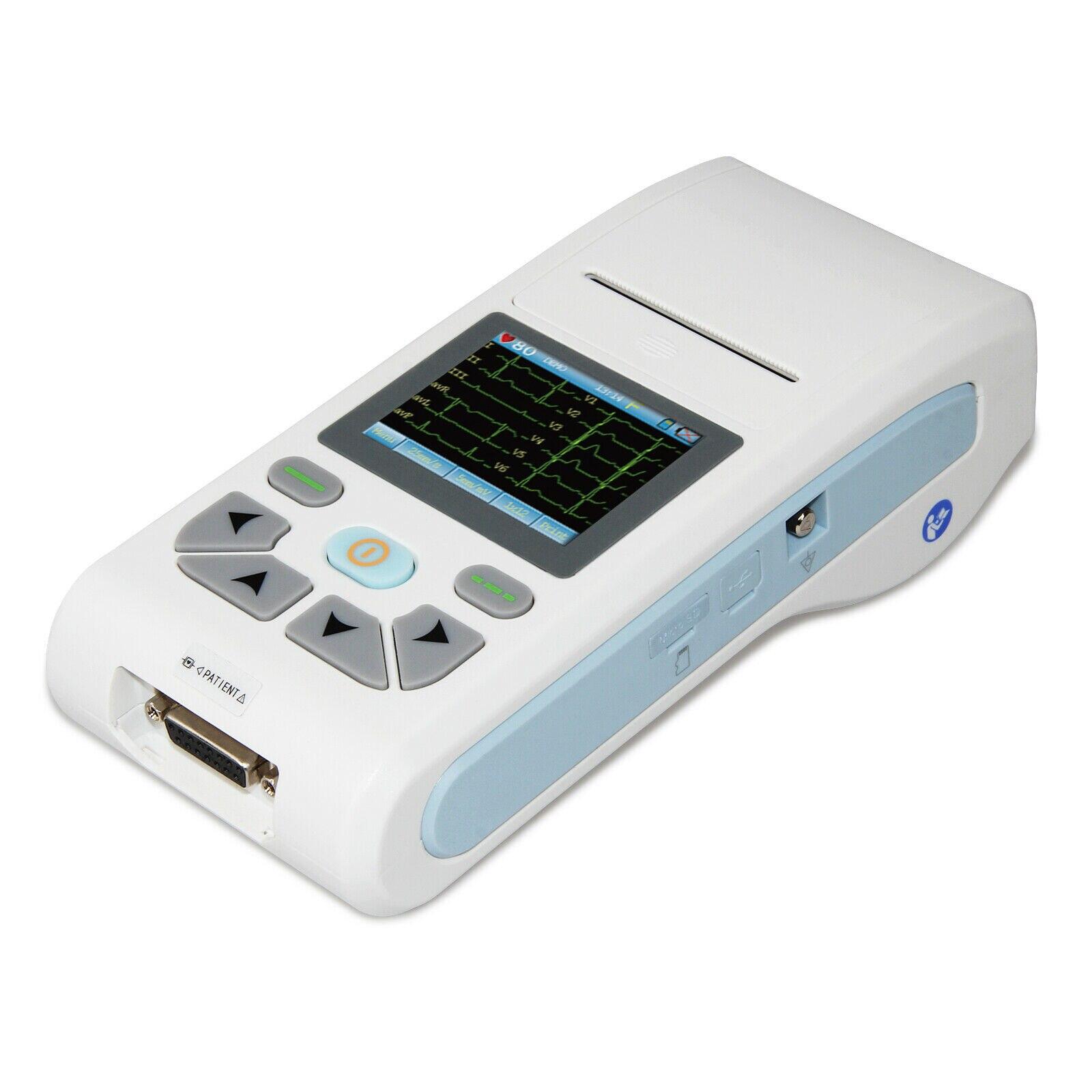 ECG90A USB برنامج قناة واحدة ECG الموجي الكهربائي شاشة تعمل باللمس