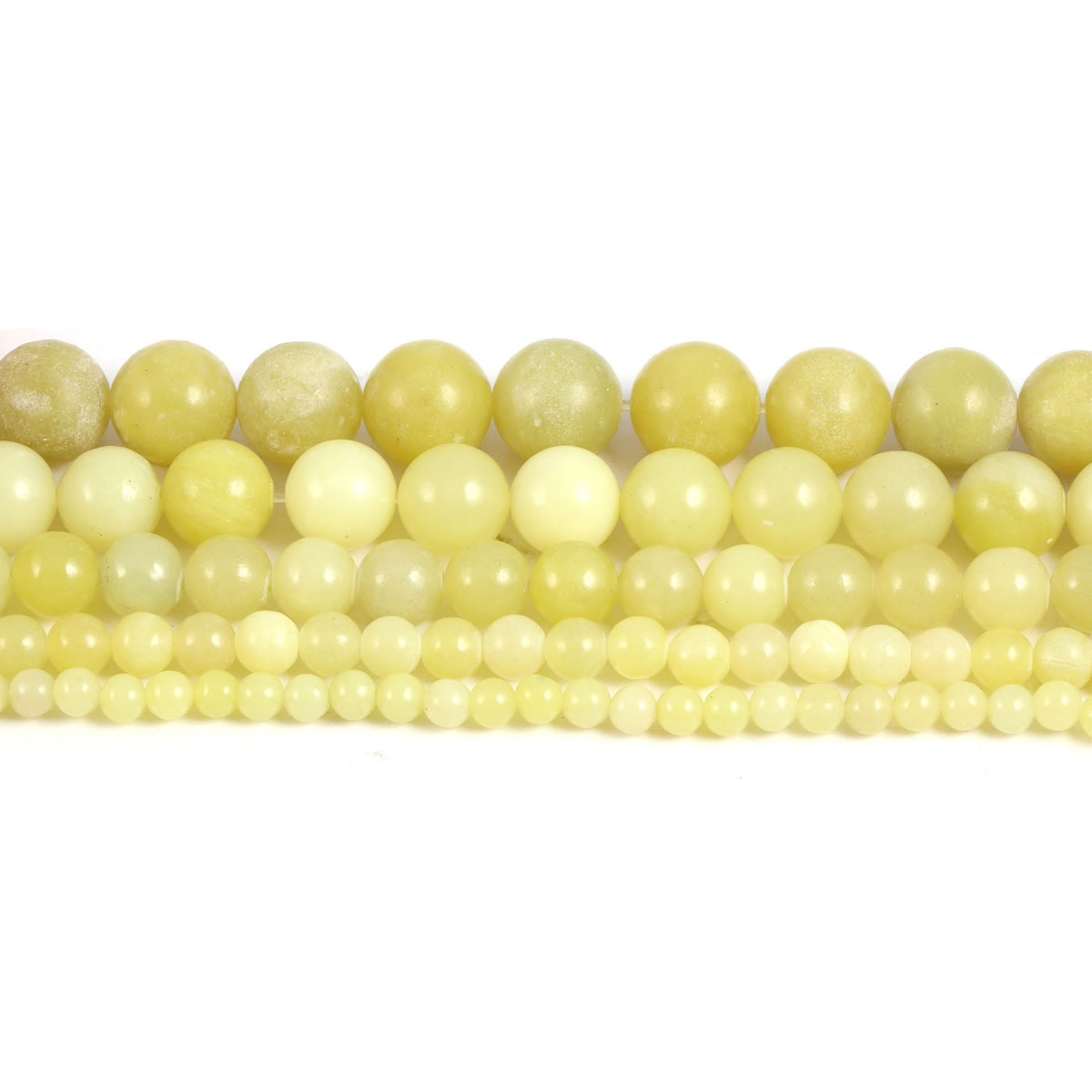 4 6 8 10 12mm Natural Stone Lemon Jaspers Beads Round Loose Spacer Beads for DIY Necklace Bracelet Making Jewelry Accessories  - buy with discount