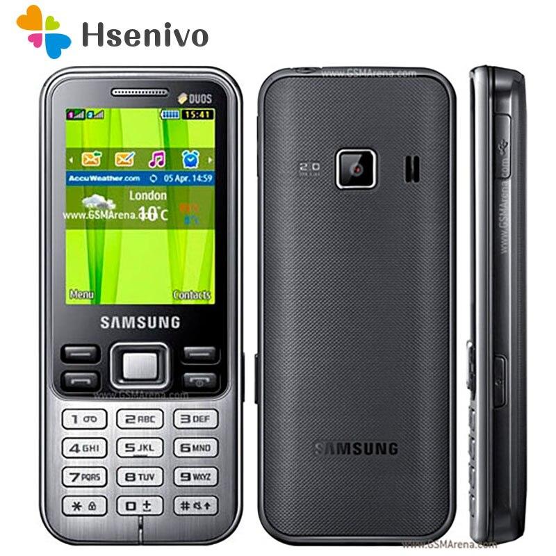 C3322 100% Original desbloqueado Samsung C3322 GSM tarjeta SIM dual FM Bluetooth FM Radio teléfono móvil envío gratis