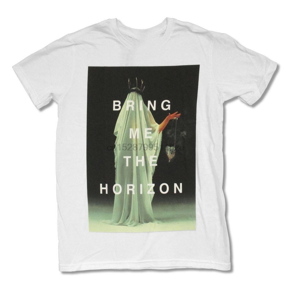 Tráeme el horizonte oculta blanco T-Shirt camiseta adulto Bmth transpirable camiseta