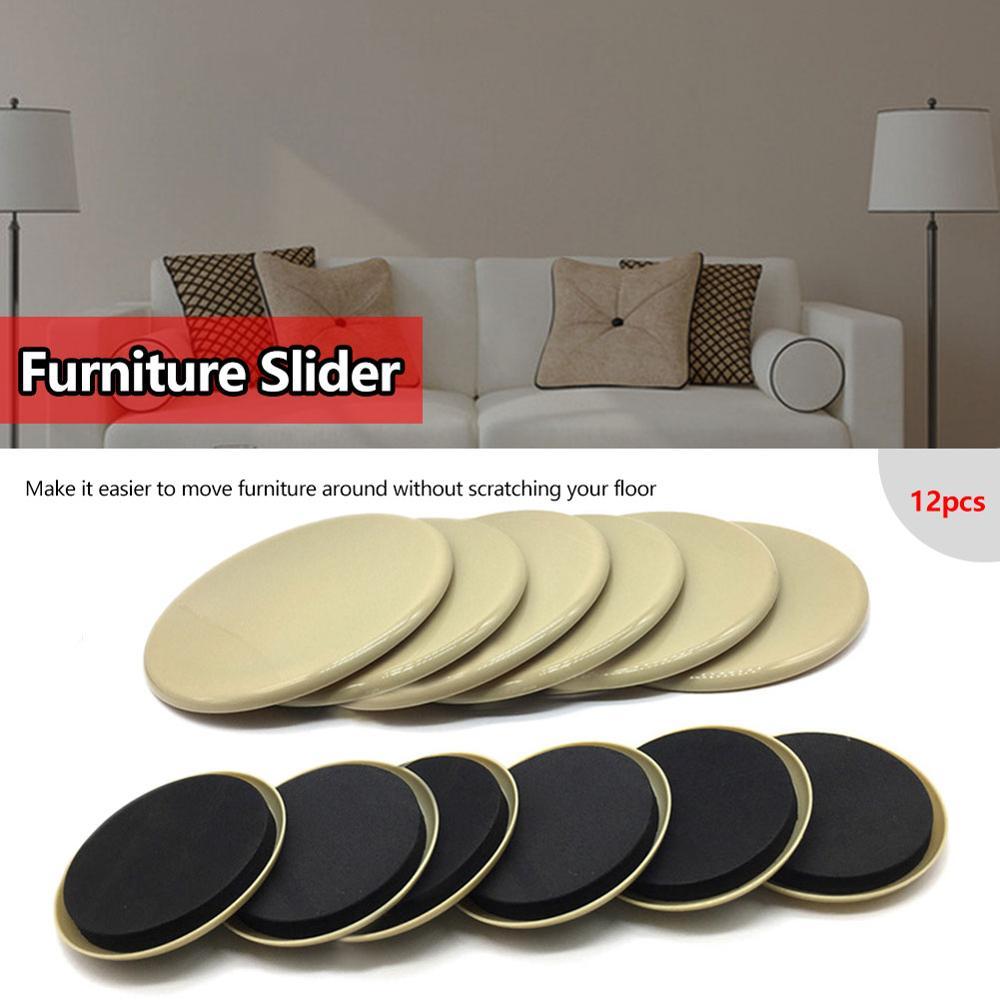 12 Uds. Deslizadores de muebles protectores de suelo deslizadores de muebles pesados reutilizables para alfombras de forma rápida y fácil