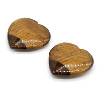new tiger eye stone natural love heart shaped reiki loose beads for jewelry making bracelet diy necklace accessories 40x40mm 1pc