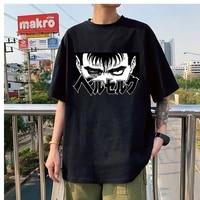 japan streetwear berserk guts men manga swordsman anime t shirt unisex hip hop crewneck tshirts all match cartoon tshirt male