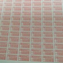 Rectangle 10*5mm 500 PCS/lot warranty sticker  destructive fraigle/temper seal label
