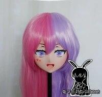 rabbit 121 resin cross dress lolita girl head bid doll mask japanese anime production i g yuzuriha inori kigurumi mask cosplay