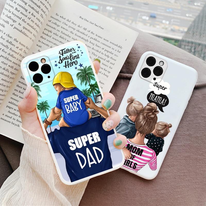 Чехол для телефона Super Mom Dad Baby Girl для iPhone SE 2020 6S 8 7 Plus 11Pro, чехол для iPhone 11 Pro XS Max XR