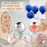 durable glass facial cupping set thearpy vacuum suction cup for body face detachable design expel cold massager cup health care