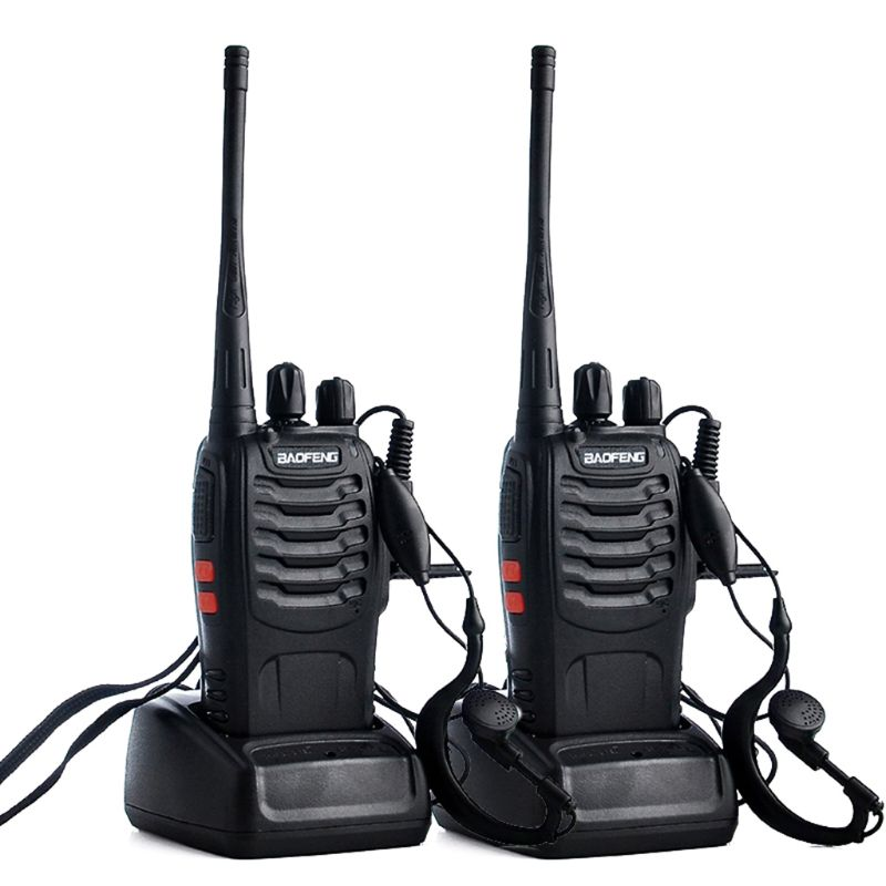 2pcs/lot BAOFENG BF-888S Walkie talkie UHF Two way Radio Baofeng 888s UHF 400-470MHz 16CH Portable Transceiver with X6HA