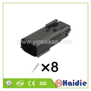 Free shipping 2sets 8pin electric female electric plug  334820801 wiring cable waterroof connector 33482-0801