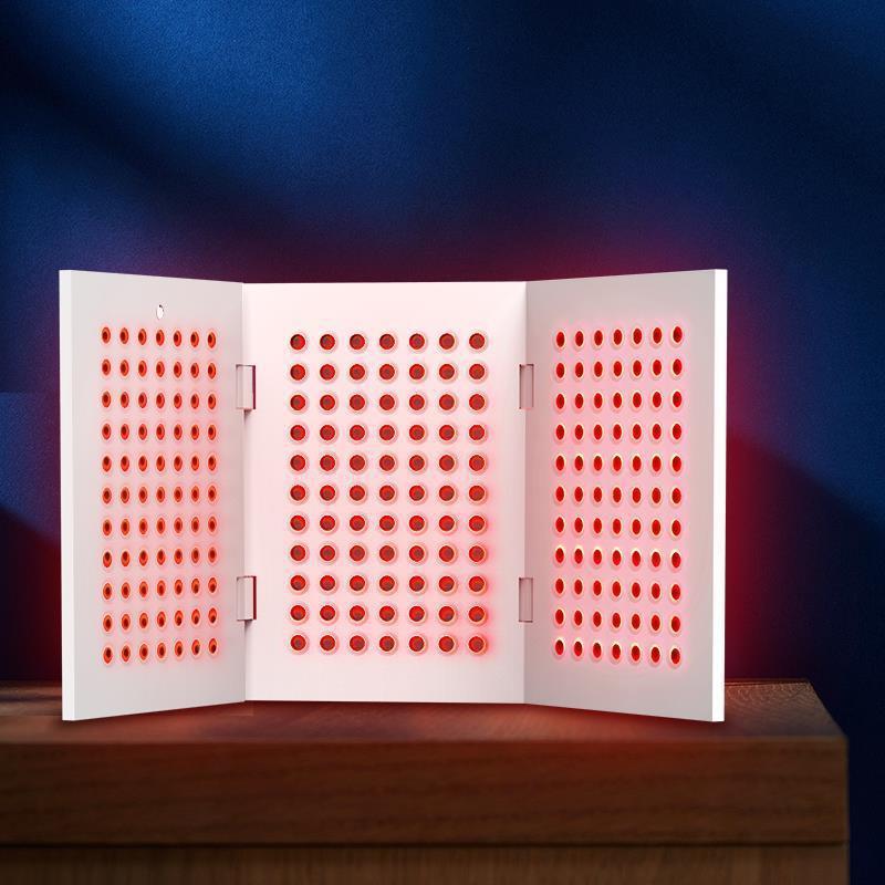 Beauty Amazon nuevo estilo LED luz infrarroja roja cerca de irradiación infrarroja lámpara de fotones Pulse B5 libro plegable