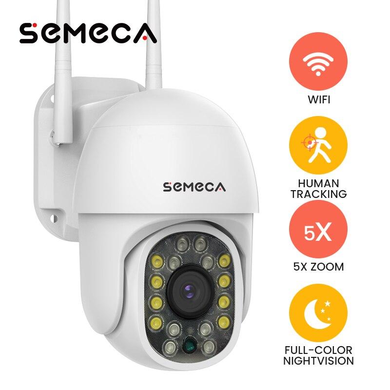 Semeca كاميرات الأمن مزودة بخاصية Wifi 360 كاميرا مراقبة Ip 1080P تتبع الإنسان كاميرا صغيرة كاميرا فيديو Sureillance واي فاي كاميرا في الهواء الطلق