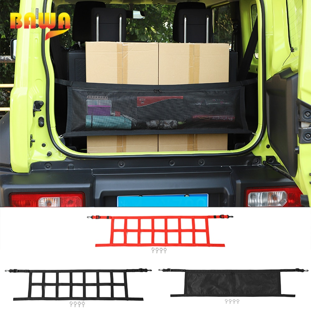 BAWA Car Trunk Cargo Net Cover Storage Bag Accessories for Suzuki Jimny 2019+ Car Cover