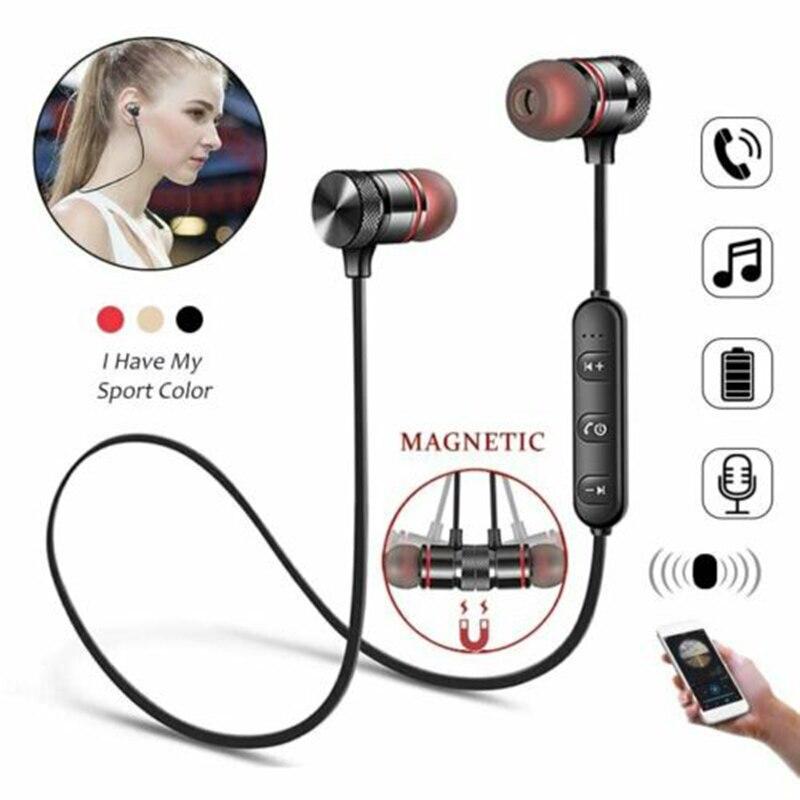 Спортивные Bluetooth-наушники-вкладыши, магнитные Беспроводные наушники с шейным ремешком