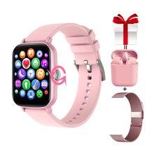 Женские умные часы Y20 с сенсорным экраном 2021 дюйма, вращающийся фитнес трекер с ручкой, умные часы GTS 2 для Xiaomi IPhone PK P8 Plus
