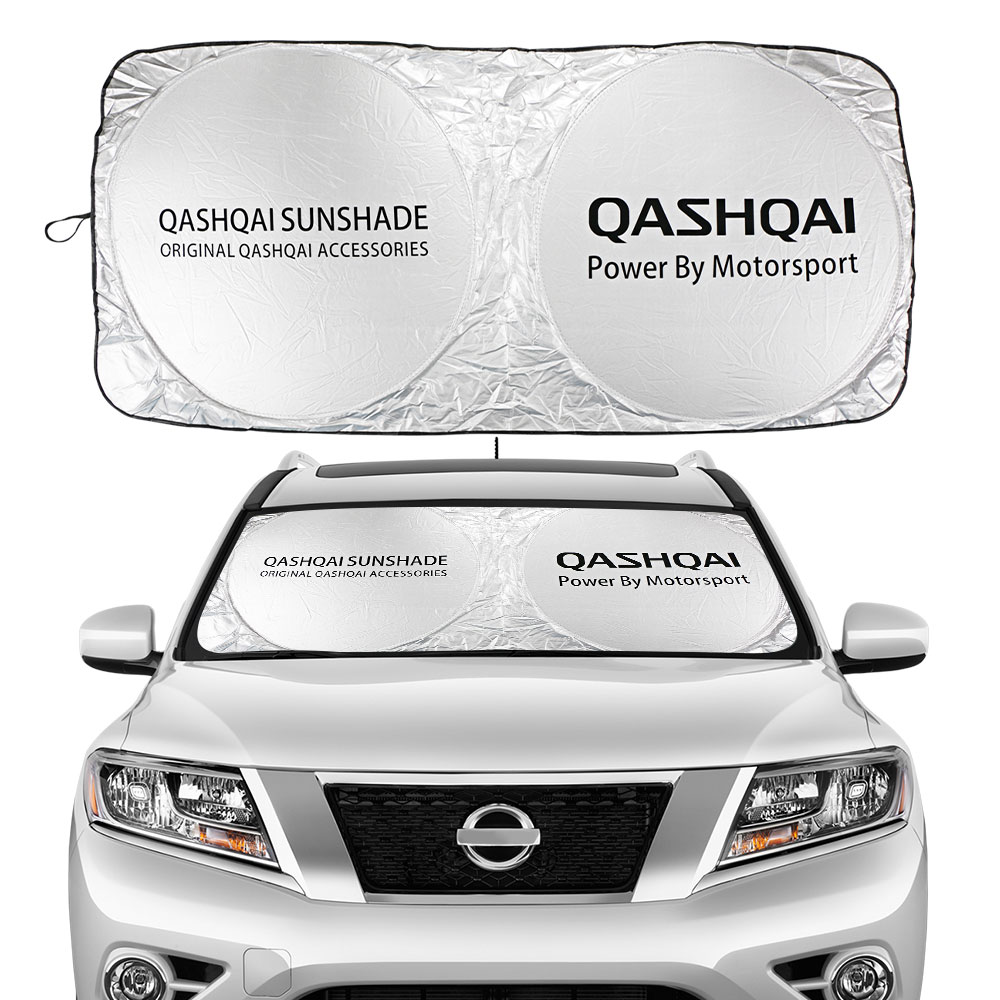 Car Windshield Sunshades Sun Shade Covers Front Window Visors for Nissan Qashqai J10 J11 2018 2019 Auto Windowshade Accessories