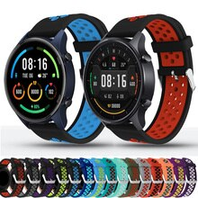 22mm Watch Band For Xiaomi MI Watch Color Sport Global Strap Quick Release Silicone Watchbands Bracelet Wristband ремешок correa