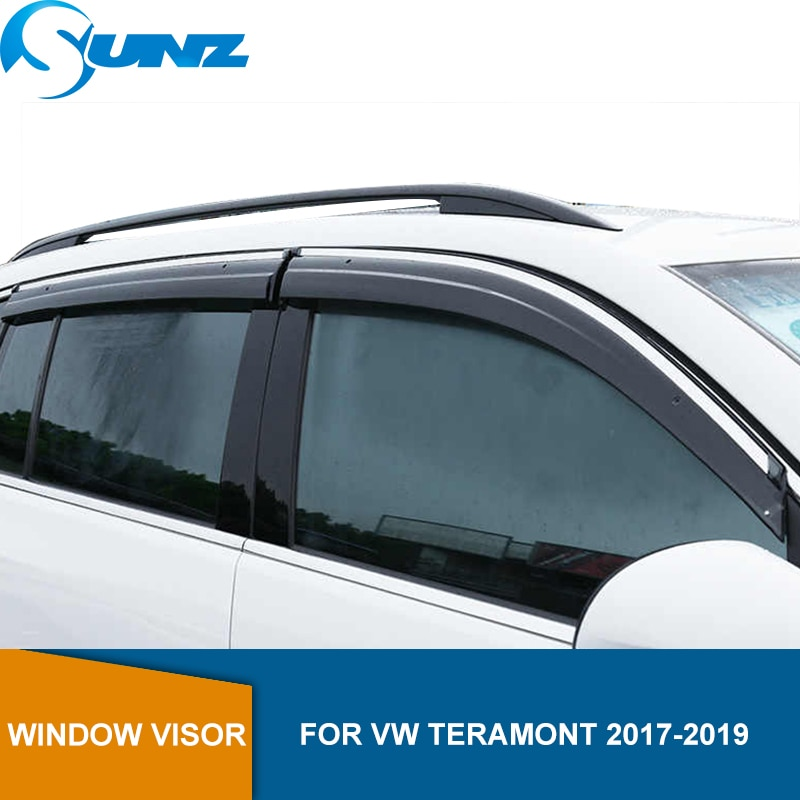 Side Window Deflectors For VW TERAMONT 2017 2018 2019 Car Wind Shield Sun Shade Awnings Shelters Guards SUNZ