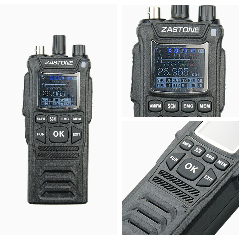 Zastone CB-58 Handheld Walkie Talkie 27MHz CB Radio HAM 4W 12V all 240 CB channels 26 to 27MHz 4000hAm enlarge