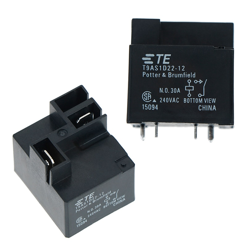 1pc original T9AS1D22-12 30a 240vac 30 ampères 240 volts 4 pinos te relé novo