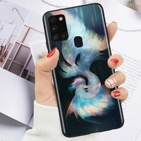 illustration dreaminess reality phone case for samsung galaxy a42 5g a41 a11 a21s white wings love coque funda carcasa soft tpu