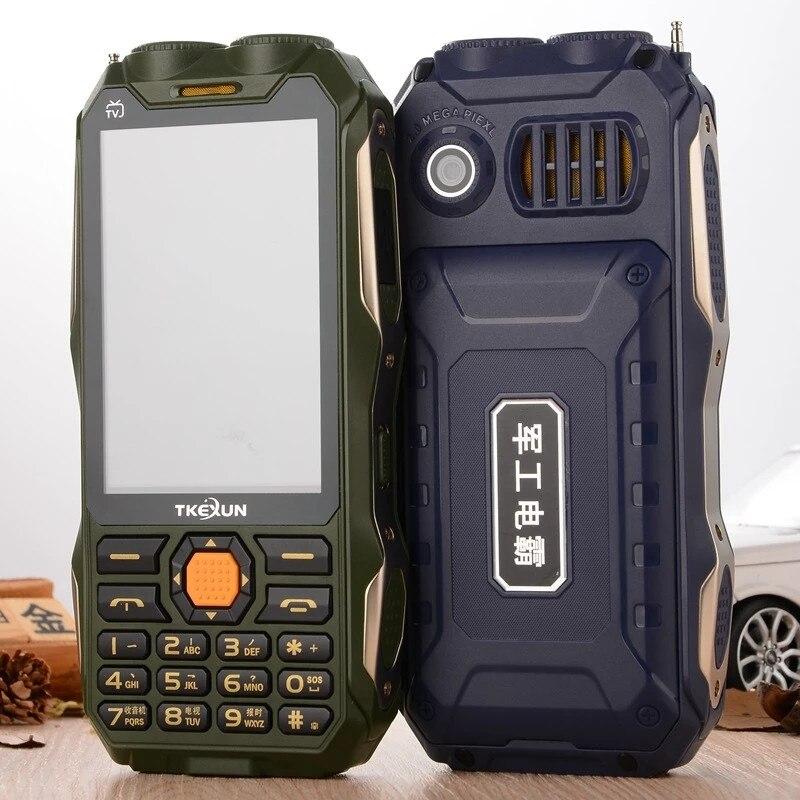TKEXUN Q8 Keyboard Mobile Phone Big Battery Power Bank Supper Flashlight Dual Sim Botten Button Cellphone PK Guophone A6