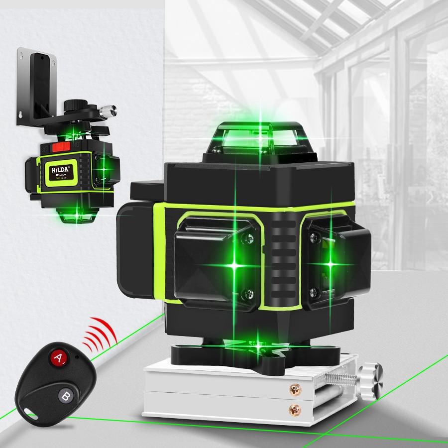 16 Lijnen 4D Laser Niveau Groene Lijn Zelfnivellerende 360 Horizontale En Verticale Super Krachtige Laser Level Green Beam laser Niveau