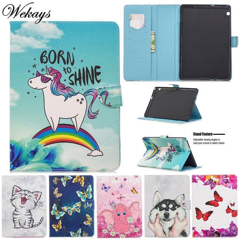 Funda Wekays para Huawei T5 10 Funda de cuero de dibujos animados para Huawei MediaPad T5 10 AGS2-W09/L09/L03 fundas de 10,1 pulgadas