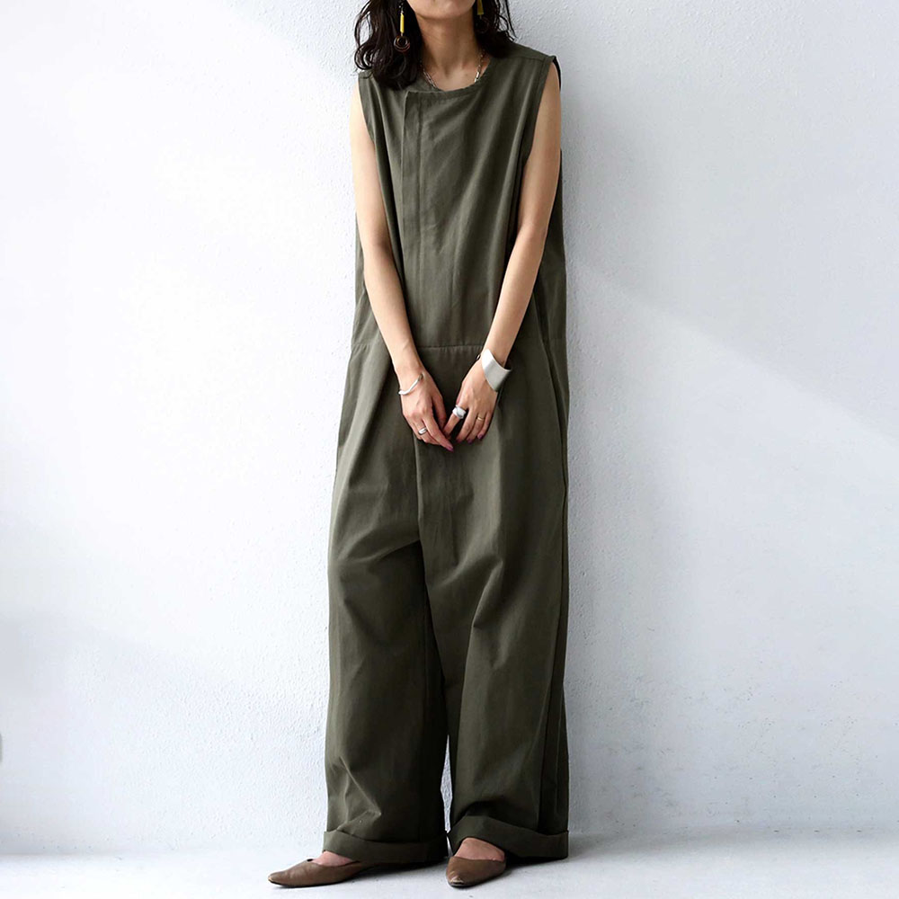 One-piece Summer Clothes Junpsuits For Women Loose Casual Korea Fashion Ladies Wide Leg Romper Solid