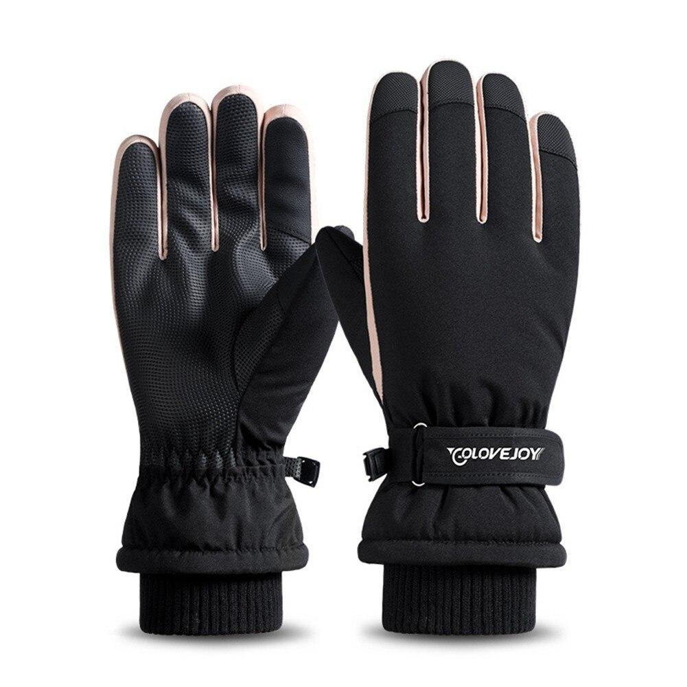 Зимние лыжные перчатки, водонепроницаемые для женщин, ветрозащитные зимние перчатки для велоспорта, скалолазания, зимние спортивные велос...
