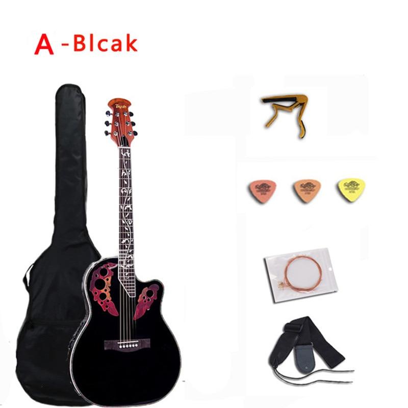 41 inch Folk Guitar 6 String Electric Acoustic Guitar Spruce Guitar Rosewood Fingerboard Crack Guitar Pickup Concert AGT152 enlarge