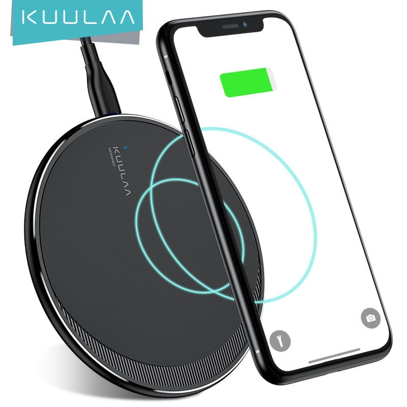 KUULAA Qi Wireless Charger For iPhone 11 Pro 8 X XR XS Max 10W Fast Wireless Charging for Samsung S1