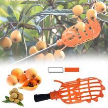 Praktische Oranje Plastic Fruit Picker Zonder Pole Fruit Catcher Tuinieren Farm Tuin Picking Tool