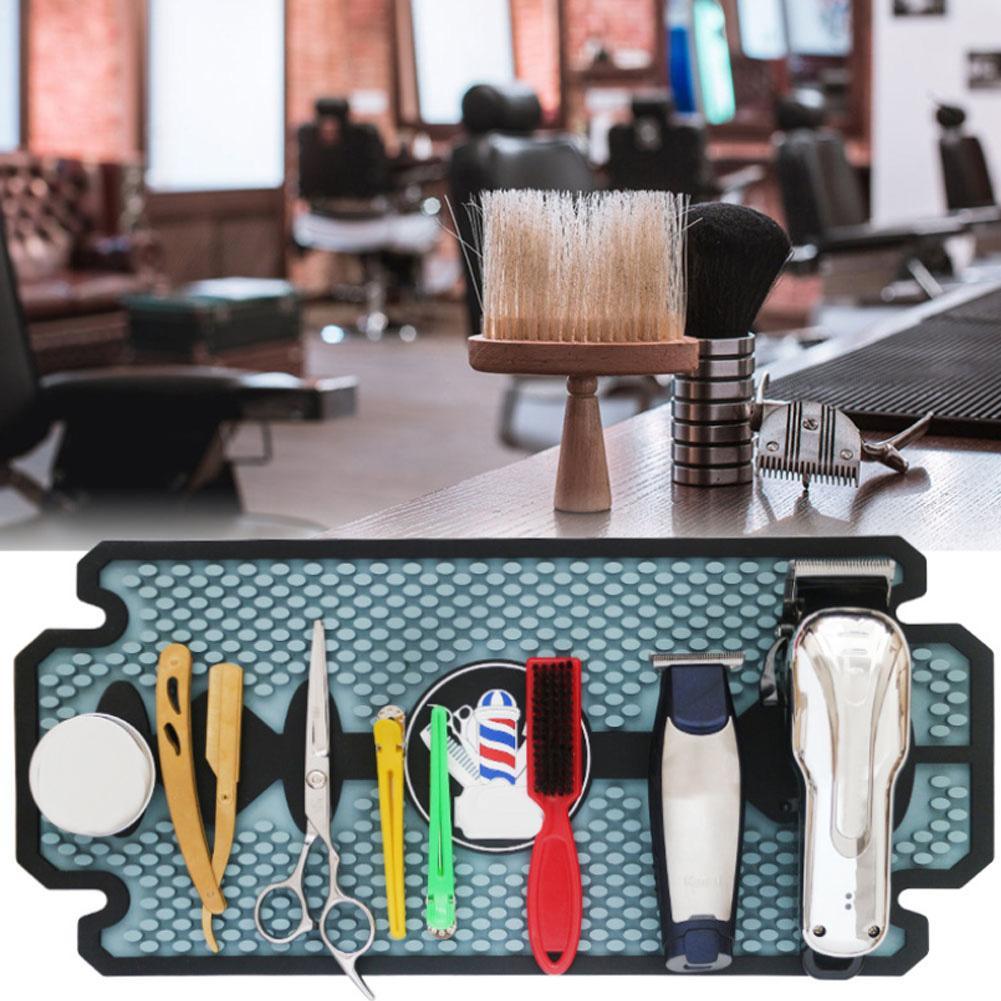 Almohadilla antideslizante para barbería estera de tijera Push-shear salón de pelo de silicona herramienta de peluquería estera almohadilla rizador titular pantalla